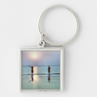 Jacksonville-Strandsun-Anbetung Schlüsselanhänger