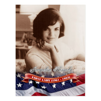 Jacqueline Kennedy, First Lady der US Postkarte