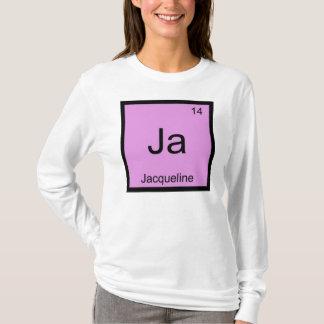 Jacquelinenamenschemie-Element-Periodensystem T-Shirt