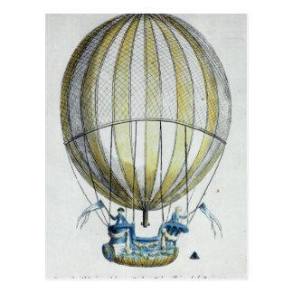 Jacques Charles und Ballon Nicholas Roberts Postkarte