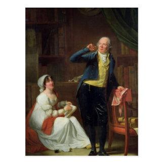 Jacques Delille und seine Ehefrau, 1802 Postkarte