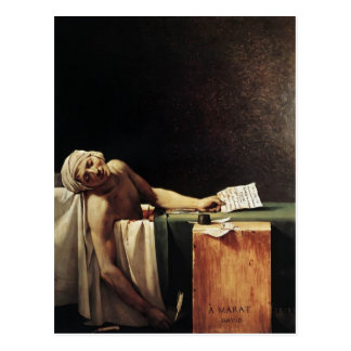 Jacques-Louis David der Tod von Marat Postkarte