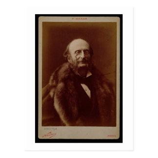 Jacques Offenbach (1819-80), deutscher Komponist, Postkarte