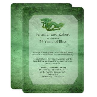 Jade-Drache-35. Hochzeitstag-Einladung 12,7 X 17,8 Cm Einladungskarte
