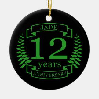 Jade-Edelstein-Hochzeitstag 12 Jahre Keramik Ornament