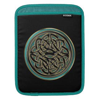 Jade-Grün und metallisches Goldkeltischer Knoten Sleeve Für iPads
