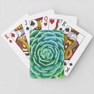 Jade-GrünSucculent Spielkarten