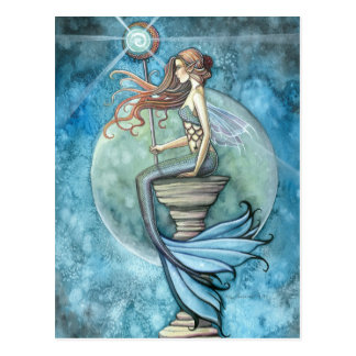 Jade-Mond-Meerjungfrau-Postkarte Postkarten