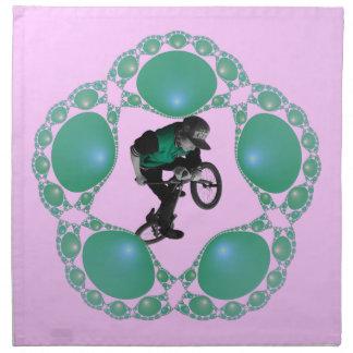 Jade-Rahmen-Serviette Stoffserviette