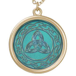 Jade und Kupfer-keltischer Rad-und Vergoldete Kette