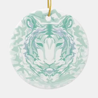 Jadegebirgstiger Rundes Keramik Ornament