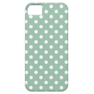 Jadegrünes Punkte-Muster iPhone 5 Hüllen