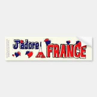 J'Adore Frankreich Autoaufkleber