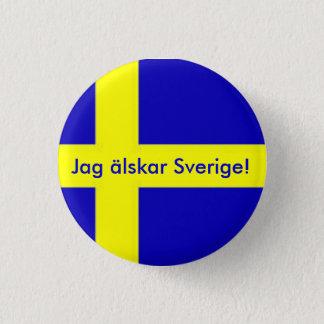 Jag älskar Sverige Button