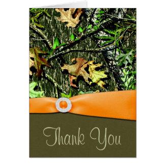 Jagd-Camouflage-Hochzeit danken Ihnen Karten