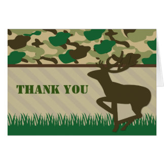 Jagd-Camouflage-Rotwild danken Ihnen Karte
