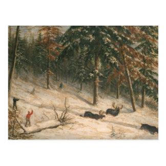 Jagd-Elche Postkarte
