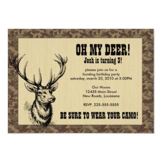 Jagd-Geburtstag 12,7 X 17,8 Cm Einladungskarte