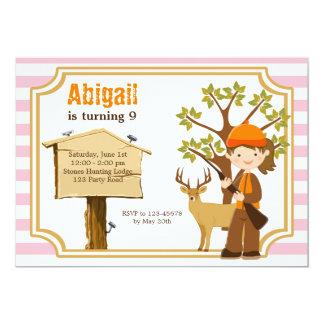Jagd-Geburtstags-Einladung für Mädchen Karte