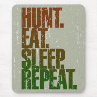 Jagd-Jäger-'Jagd, essen, schlafen, Repeat Mousepads