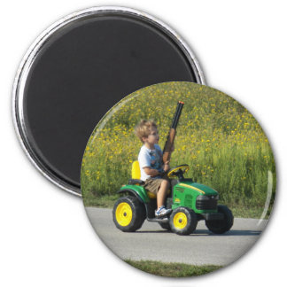 Jagd-Jahreszeit fängt durch Leslie-Paprikaschoten  Runder Magnet 5,1 Cm