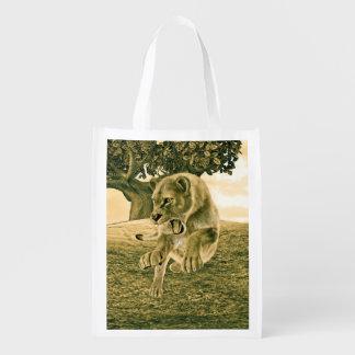 Jagd-Löwin Wiederverwendbare Einkaufstasche