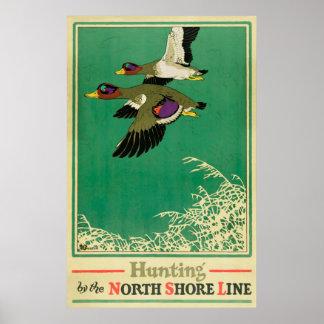 Jagd-und Fischen-Vintages Plakat