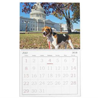 Jagdhund-Bezirks-18-monatiger Kalender