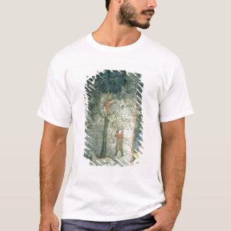 Jagdhunde und -männer, die einen Baum klettern T-Shirt