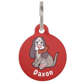 Jagdhundhundepersonalisierte Hundeplakette Tiernamensmarke