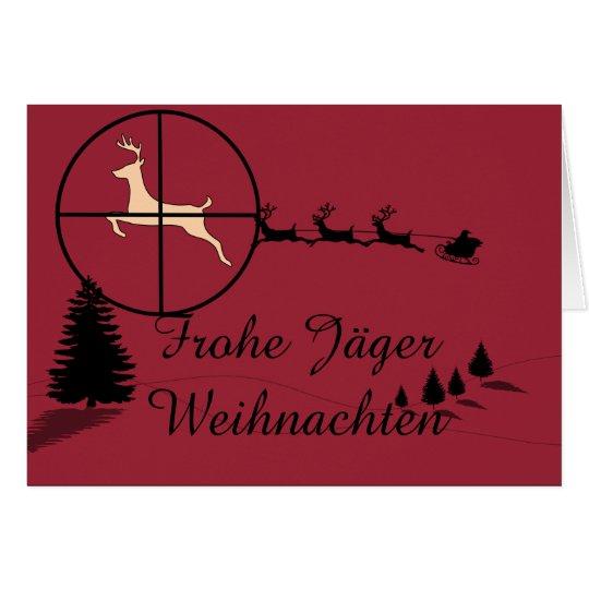 Jagdliche Weihnachtskarte Karte