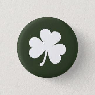 Jäger-Grün mit irischem Kleeblatt Runder Button 3,2 Cm