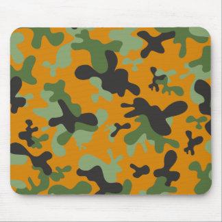 Jäger-orange und grünes Tarnungs-Muster Mousepads