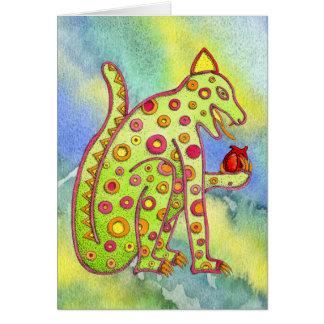 Jaguar, das Herz (bl/yl, isst WC) Karte