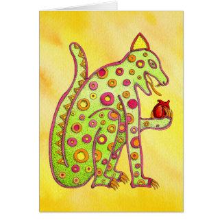 Jaguar, das Herz (gelbes, isst WC) Karte