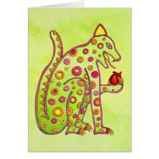 Jaguar, das Herz (grünes isst WC lt) Karte