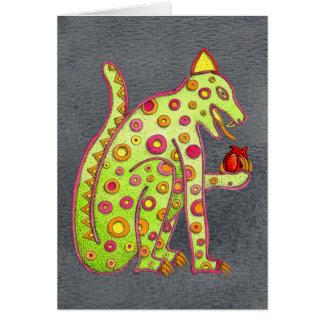 Jaguar, das Herz (schwarzes, isst WC) Karte