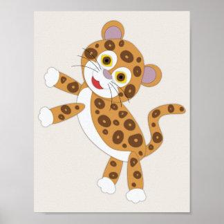 Jaguar-einfache Kinderzimmer-Kunst Poster