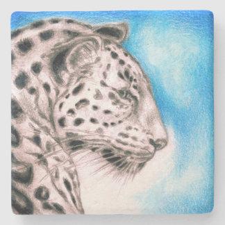 Jaguar-Kunst Steinuntersetzer