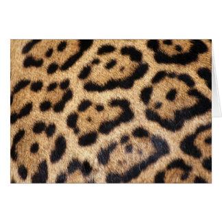 Jaguar-Pelz-Foto-Druck Karte