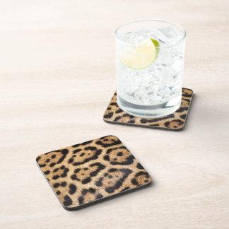 Jaguar-Pelz-Foto-Druck Untersetzer