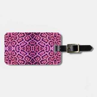 Jaguar-Pelz in rosa und in Lila Kofferanhänger