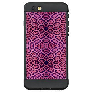 Jaguar-Pelz in rosa und in Lila LifeProof NÜÜD iPhone 6 Plus Hülle