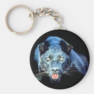 Jaguar - schwarzer Panther Standard Runder Schlüsselanhänger