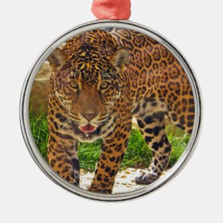 Jaguar Silbernes Ornament