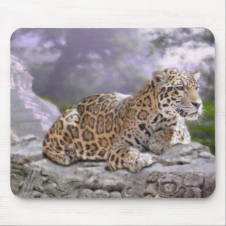 Jaguar und Mayatempel Mauspad