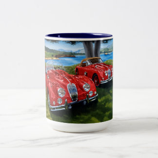 Jaguarmalen Zweifarbige Tasse