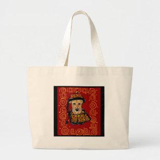 Jahr Airedales Terrier des Hundes Jumbo Stoffbeutel