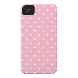 Jahr-Art-Rosa-Tupfen iPhone 4S Fall Case-Mate iPhone 4 Hüllen