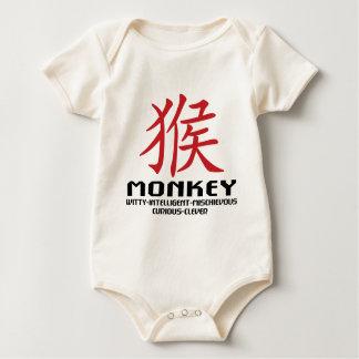 Jahr der Affe-Eigenschaften Baby Strampler